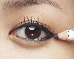 雙眼皮術後畫較粗的眼線,遮掩腫脹